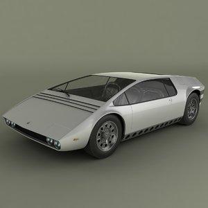 bizzarini manta concept 3d max