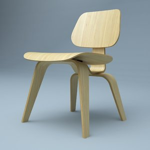 hi plywood chair 3d obj