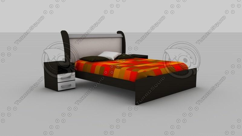 bed king size 3d model