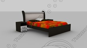 bed king size 3d model