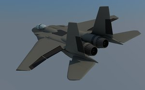 3d model fighter jet