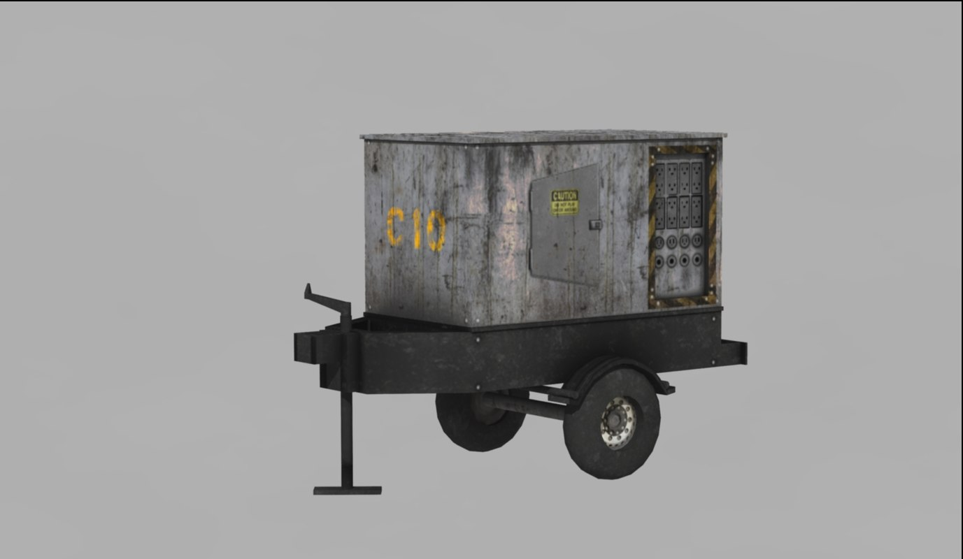 maya dirty generator trailer