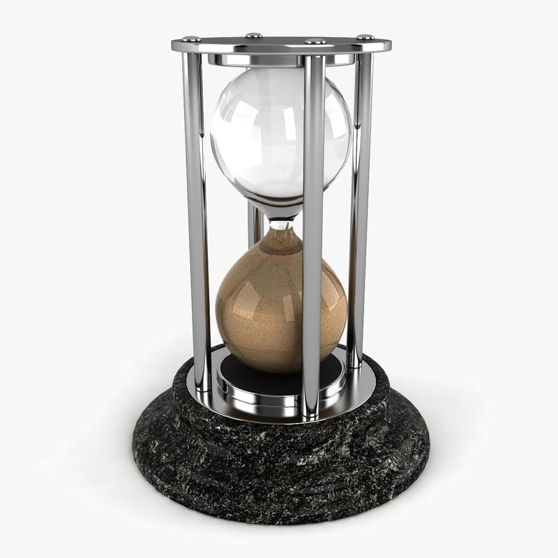 3d model hourglass glass hour