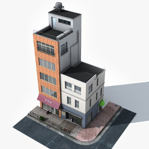 japan building 3d model