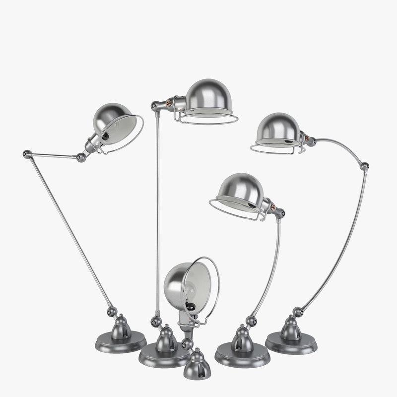 3d model of jielde lamps