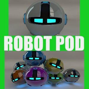 robotic pod 3d model