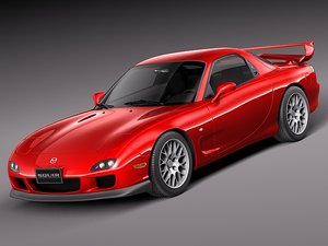 3d model mazda rx7 rx-7 sport coupe