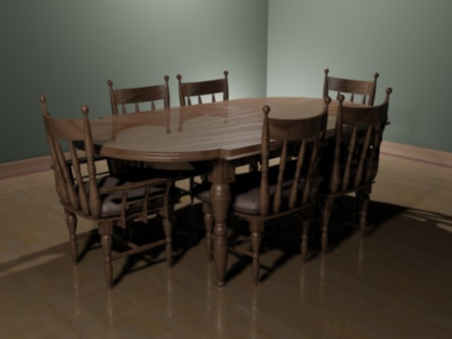 3d model of set table