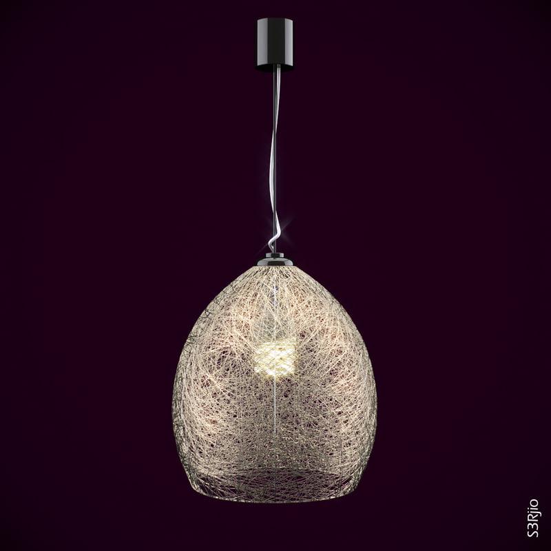 modelled fiber chandelier light 3d model