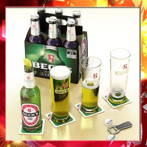 becks beer 3d max