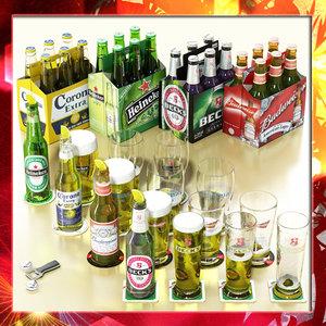 beers pack heineken 3d model