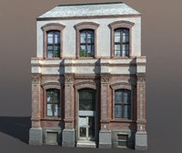 3d building exterior modeled model
