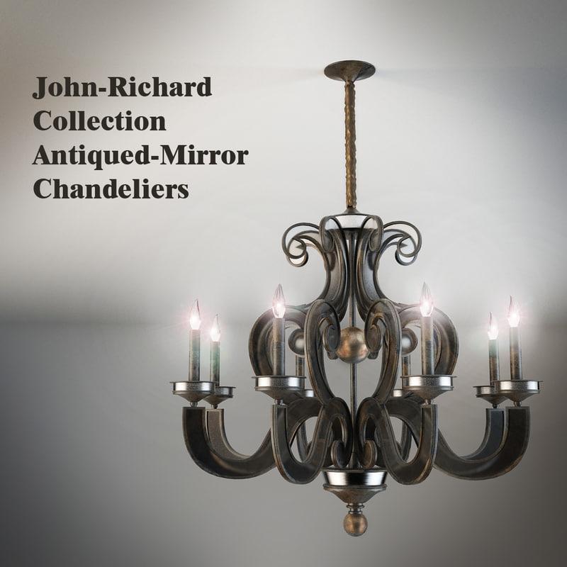3d light chandeliers eight-light model