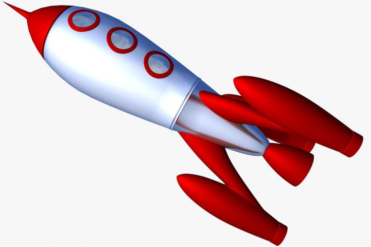 free c4d model retro rocket