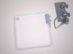 shower tray tap 3d model