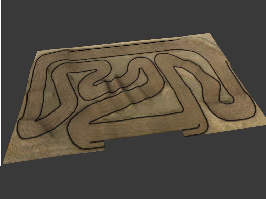 3dsmax rc car race track
