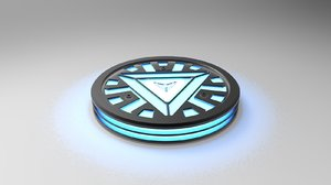 iron man arc reactor 3d model