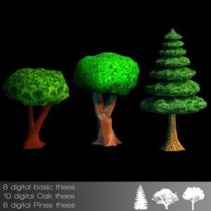3ds max oak tree
