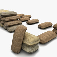 3d sack fabric model