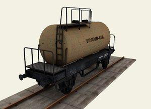 3d model railroad tanker wagon