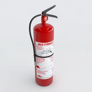 3d extinguisher e3d element3d