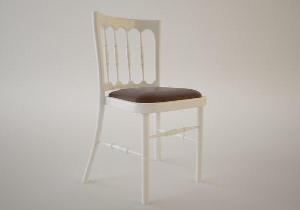 provincial dining chair 3d model