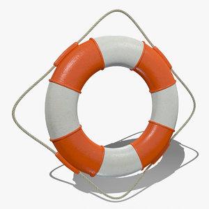 3d life buoy lifebuoys model