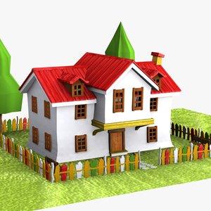 cartoon house toon 3d max