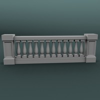 balustrade architectural 3d 3ds