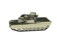 3d abrams tank