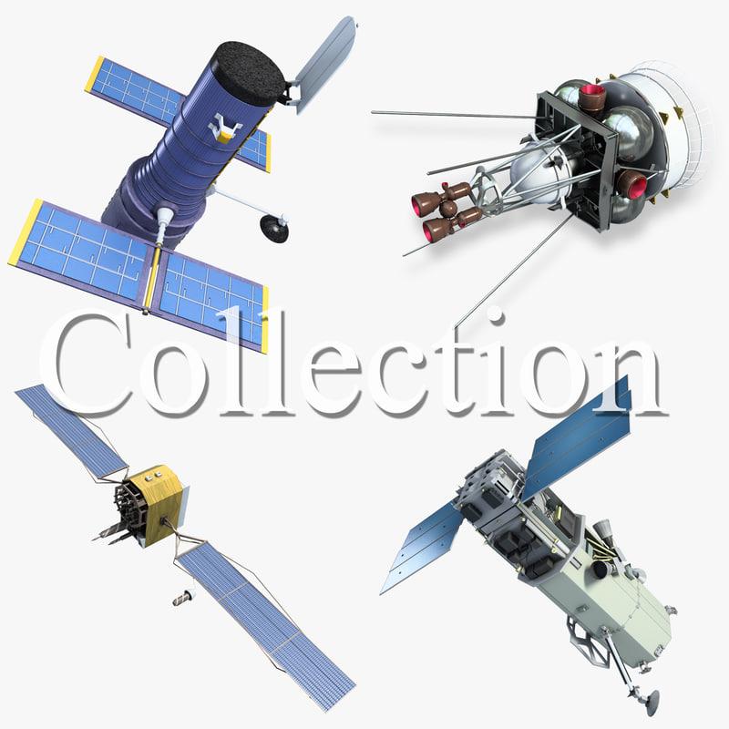 space satellite 1 3d max