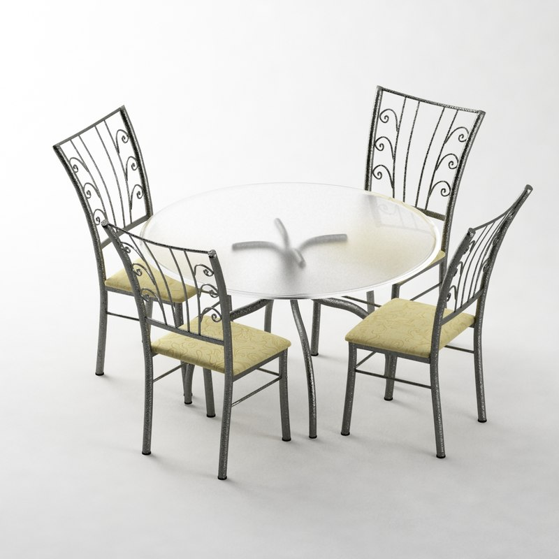 3ds max 5 pc dining set