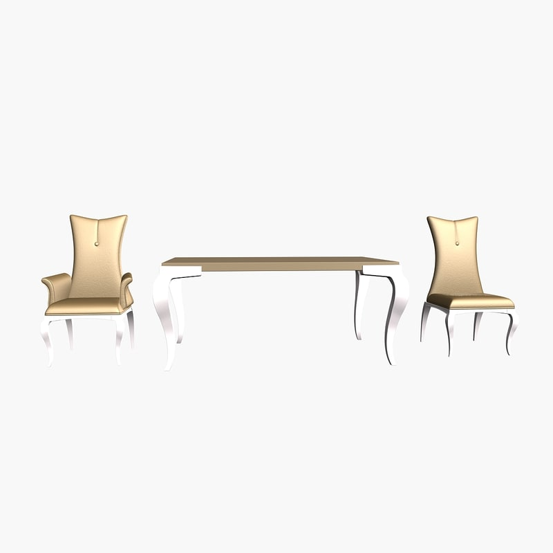 3d abril dinner table chair