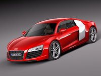 audi r8 coupe supercar c4d