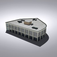 3ds max modern generic building