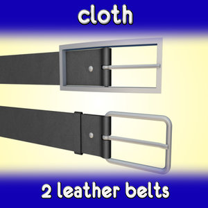3d model of leather belts