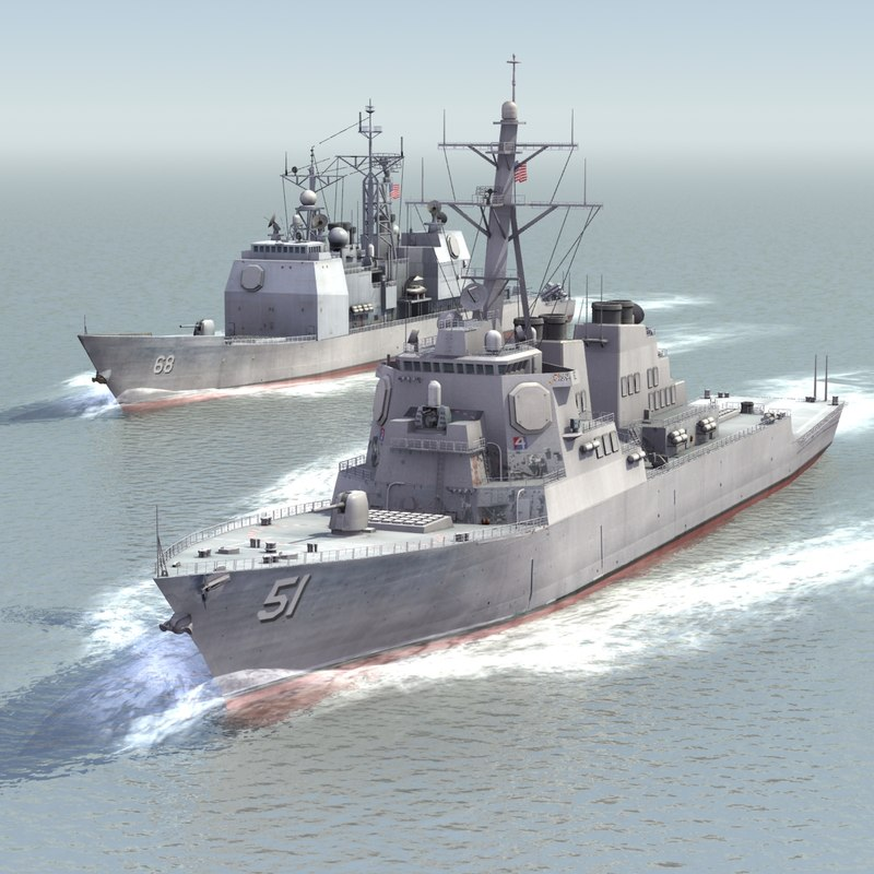 3dsmax navy ships destroyers warships