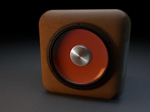 small cube speaker 3ds