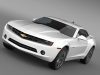 chevrolet camaro 2010 automobile 3d model