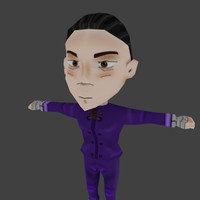3d chinese chibi character