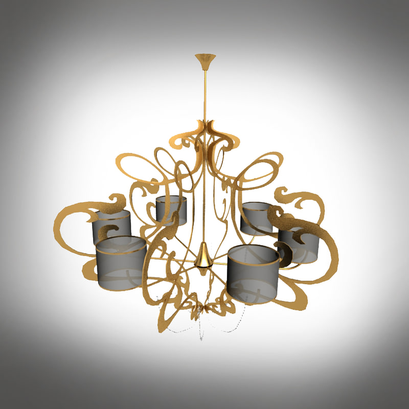 suspension light 3d max