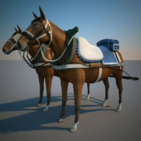 3d max harnessed horse 5