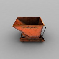 tank garbage trolly 3d max