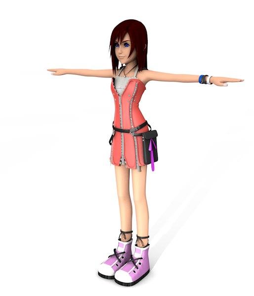 kairi kingdom hearts 3d model