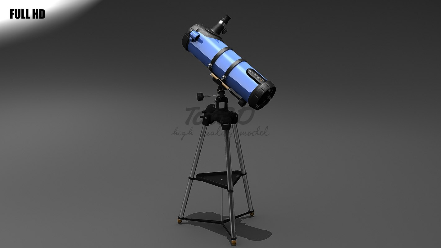 3d model newton telescope