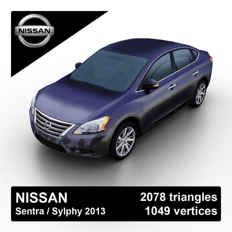 3d 2013 nissan sentra sylphy model