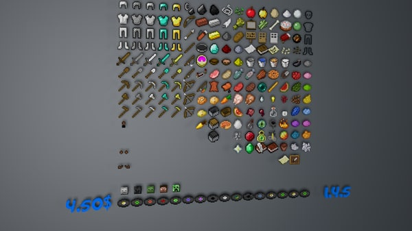 3d minecraft iteams model