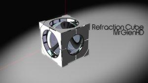 refraction cube portal 2 3d model