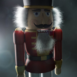 3d nutcracker walnut