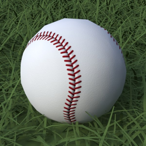 baseball clean dirty 3d model